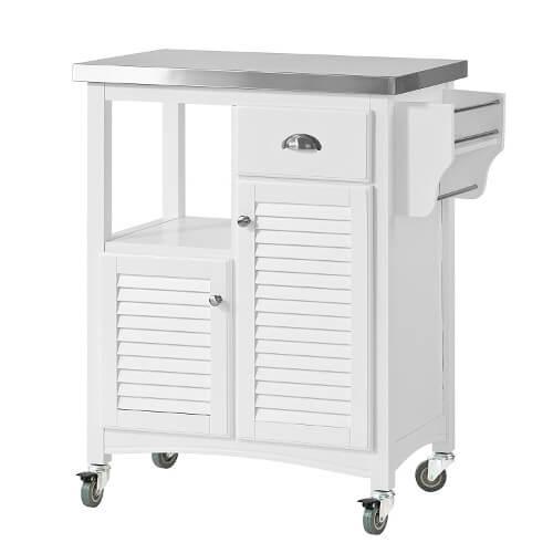 Weißer Küchenwagen aus Holz