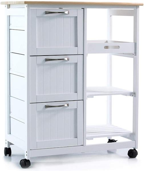 Annaterra Küchenwagen weiß 3 Schubladen